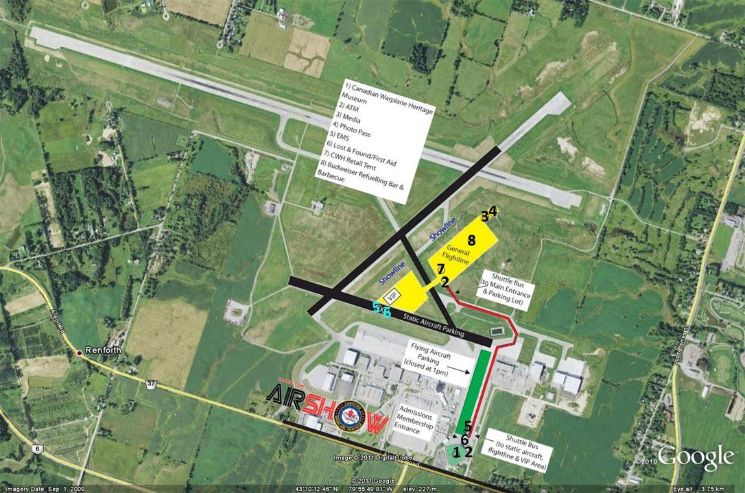 """""""2011 Hamilton Air Show Map"""""""